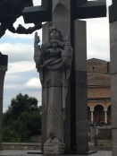 Mother Bulgaria on the far side of Asen's Monument