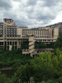 The crumbling Int'l Velinko Hotel